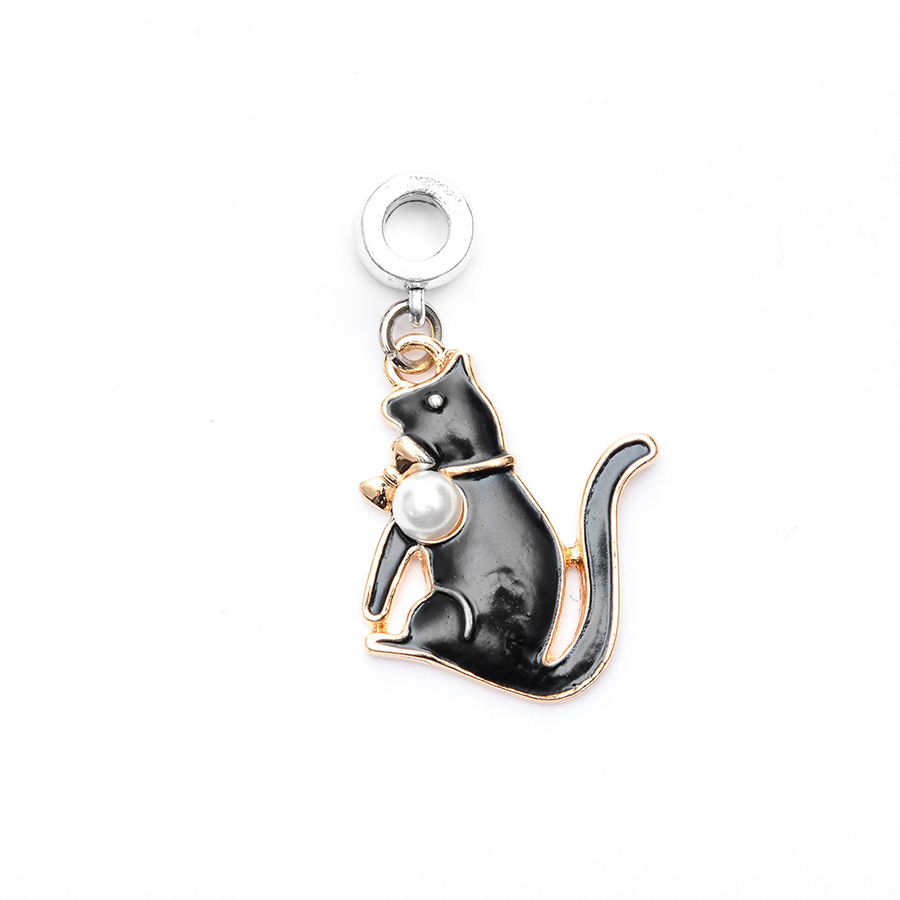 Or,Argent ou Plaqué Noir Mini Chat Chaton Cadran Boucles D/'Oreilles Puces dans