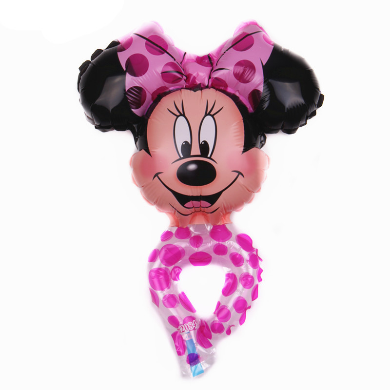 100 pcs grand Mickey tête ballon de bande dessinée Mickey Minnie en ...