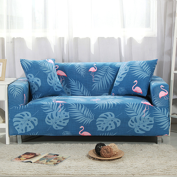 Universal sofa cover Print couch cover Polyester floral bench Covers Elastic stretchy Fu ...