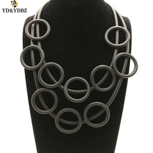 YD&YDBZ DIY Jewelry Womens Claims The Glamour Hand-Made Multi-Layer Vintage Soft foam Aluminum Necklace Is a Lucky Necklace.
