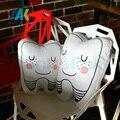 1 unid Nuevo diente en forma de almohada cojín lavable regalos creativos Para Niños Regalos del Día tipo de dientes Dental Clinic regalo Bolster