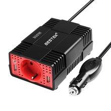Bestek 300 Вт автомобиля Мощность преобразователь DC 12 В к AC 220 В инвертор 5 В 4.2a Dual USB зарядное устройство Автомобильный адаптер Напряжение преобразователь 12 В