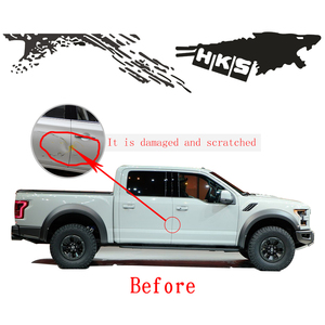 Image 2 - Cool Sticker For Nissan NAVARA Frontier Personality Car Styling Funny DIY Decal Car Whole Body Car Decoration 2pcs Car Styling