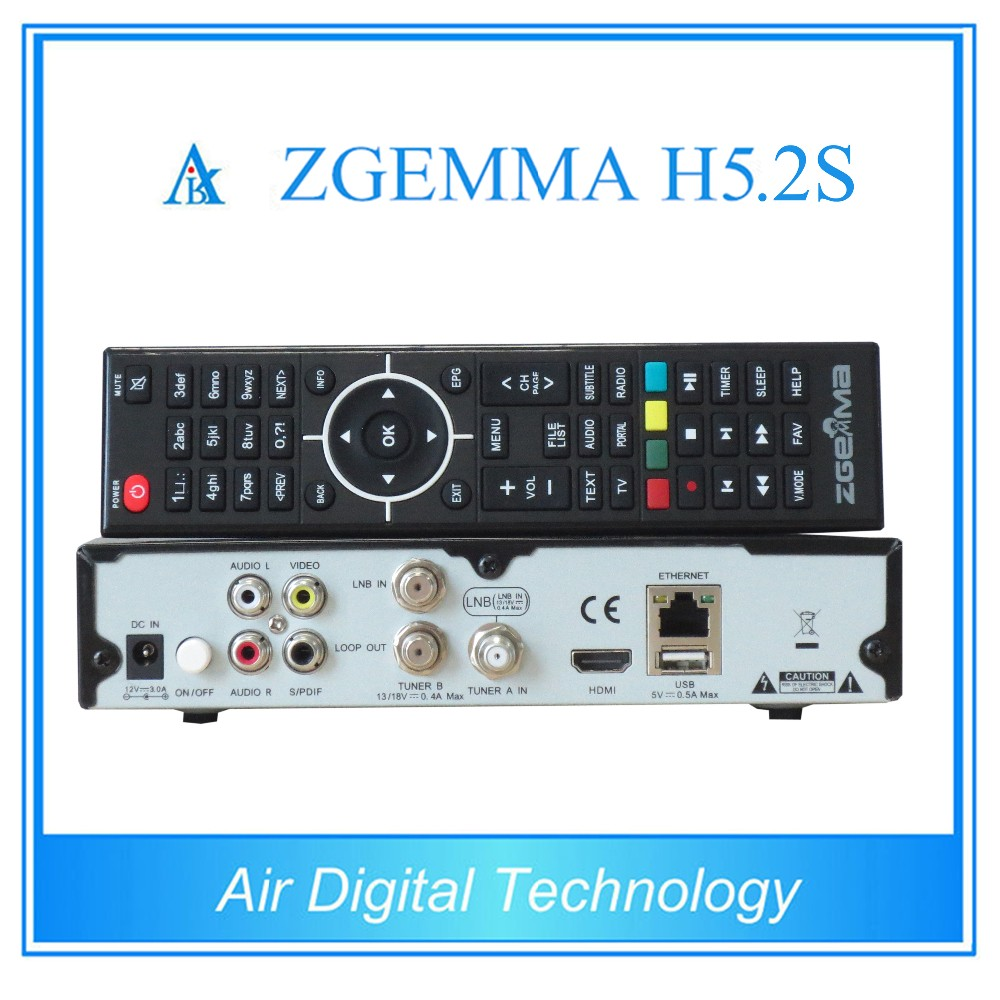Aliexpress com : Buy 5pcs/lot HEVC/H 265 Satellite Receiver&Decoder ZGEMMA  H5 2S BCM73625 Linux OS Enigma2 Dual Core DVB S2+S2 Twin Tuners HDTV Box