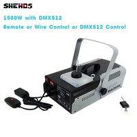 DMX512 1500W with 1500W Remote or Wire Control or DMX512 Control smoke machine for Remote and Wire Control Party DJ