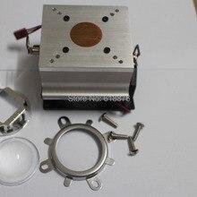 90-120degree 44 мм объектив+ отражатель кронштейн+ 20-100 Вт светодиодный алюминиевый радиатор вентилятор охлаждения