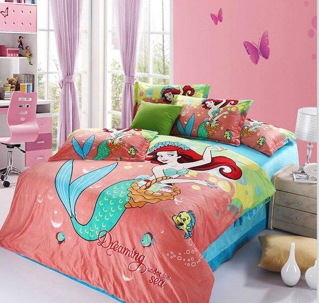 Beautiful Velvet bedding/The little mermaid bedding set /girls bedding set  OS83