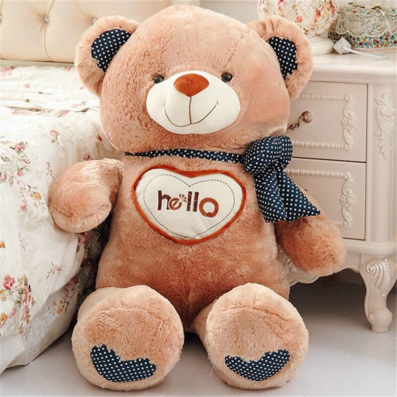 70 CM 2016 une pièce doux ours en peluche jouet avec amour PP coton en peluche de haute qualité ours en peluche petite amie cadeaux d'anniversaire 2 couleurs