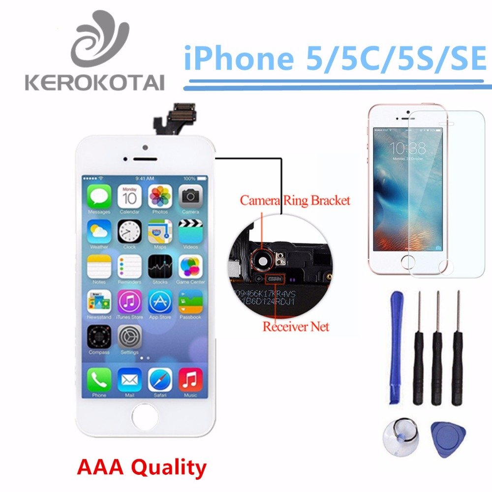 100% Tested AAA Quality LCD Display Screen For iPhone 5 5S 5C SE Display Screen LCD Assembly Touch Screen With Digitizer Parts