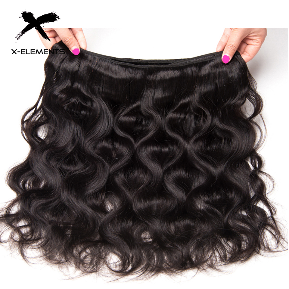 X-Elements Malaysian Body Wave Hair 1 Bundles 100% Human Hair Bundles Non-Remy Hair Weaves Natural Color 8-26 Hair Extensions (14)