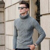 Siriusha Male Winter Sweater Turtleneck Knitting Sweater Thickening Sweater Twisted Vintage Sweater Male Basic Shirt