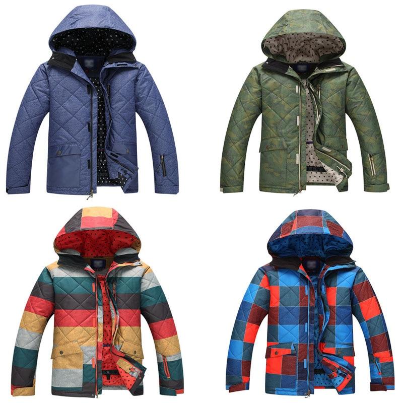brands MEN skiing suit snowboard outdoor  sports skiing ski jackets waterproof & windproof winter snow warm  -30 costume