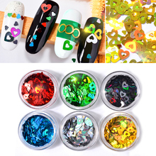 6pcs Shiny Round Ultrathin Sequins Colorful Nail Art Glitter Tips UV Gel 3D Decoration Manicure DIY Accessories 2019 new