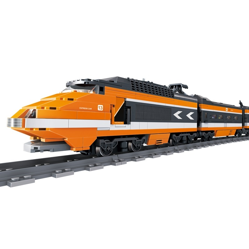 US $142 0 |Assembly the sky high speed train track model building puzzle 3D  Model train DIY kids toys for children's toys & RC cool car-in Blocks from