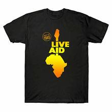 new Live Aid Band 1985 Festival Elton John Freddie Mercury David Bowie T-Shirt Sleeve T Shirt Summer Men Tee Tops