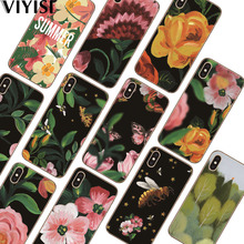 Flowers Fundas Etui For Apple iPhone X Case IPhone 7 8 6 6S Plus 5 5S SE X XS MAX XR Coque Capas Soft Silicone case Back Cover jonsnow for iphone 7 flowers pattern soft case for iphone x 6s 7 8 plus clear back cover for iphone 5 5s se capa coque fundas