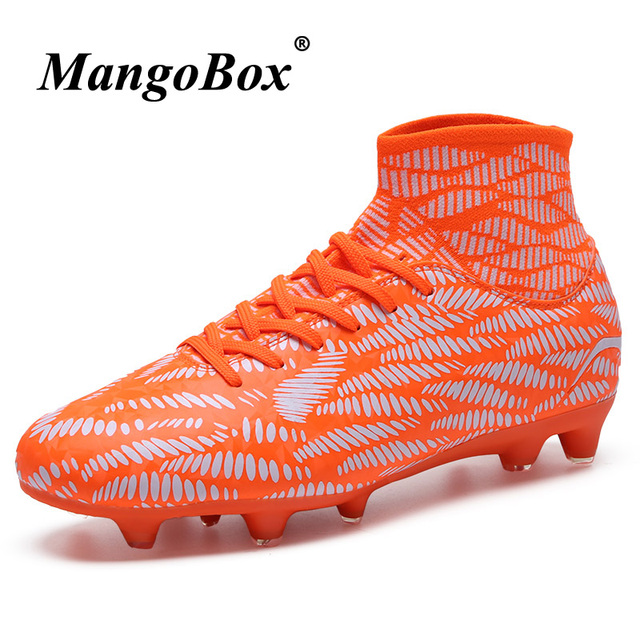 6f9d5666f325 Mens Football Cleats High Tops Football Boots Men Brand Designer Youth Football  Cleats Sale Long Spikes Boys Soccer Boots Ankle