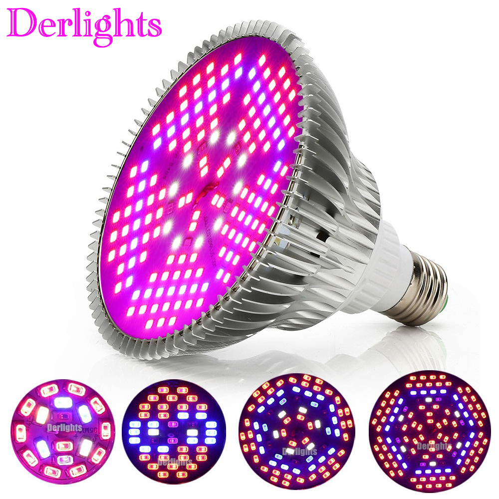 100W 80W 50W 30W 18W E27 LED Grow Light Hydroponic Lighting For Flower Hydroponics System Indoor Garden Greenhouse Plants