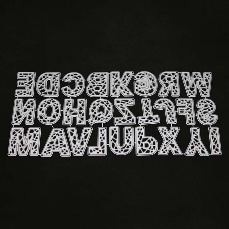 26 englisch brief alphabet metall Schneiden Stirbt für scrapbooking Präge Schablone für Karte, der Dekoration DIY Handwerk troqueles
