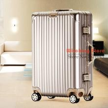 20 INCH 202426# , luggage business universal wheel aluminum magnesium alloy rod metal suitcase board box #EC FREE SHIPPING