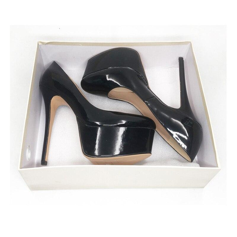 Extrême Talon Rond Themost r Gb120k Pompes Femmes forme Chaussures d gb120k gb120k Sur Sexy Glissement Soirée Bout b Robe Haute Plate qqFpP
