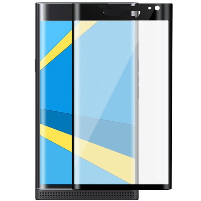 3D Curved Full Coverage Screen Protector for Blackberry Keyone Tempered Glass Protective Film for Blackberry Priv on The Phone