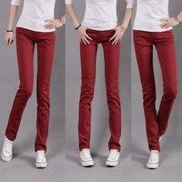 конфеты брюки женщин 100% хлопок узкие джинсы брюки большой размер леггинсы середине талии карандаш брюки 3008