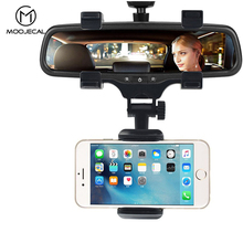 MOOJECAL Car Phone Holder Car Rearview Mirror Mount Phone Holder 360 Degrees For iPhone Samsung GPS Smartphone Stand Universal
