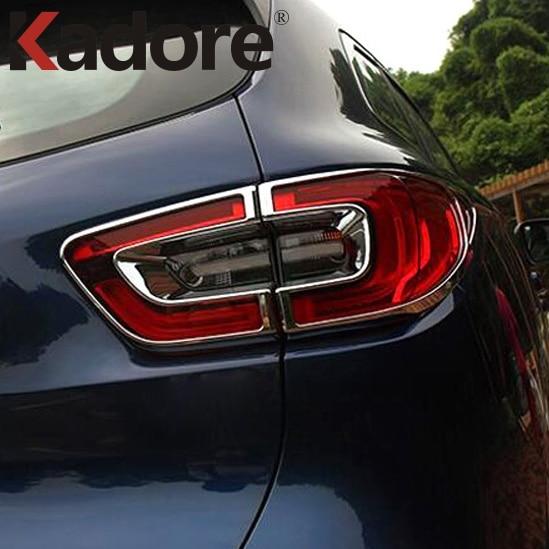 Para Renault Kadjar 2016-2018 2019 ABS Chrome Rear Tail Light - Peças auto - Foto 2