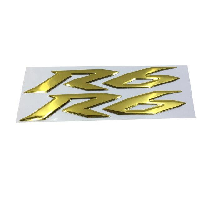 Goldene Motorrad Emblem Abzeichen Aufkleber 3d Tank Rad Logo Fur Yamaha Yzf600 R6
