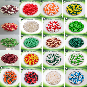 0# 10000pcs Green red blue colored empty hard gelatin capsules, Clear Transparent gelatin capsules ,joined or separated capsules фото