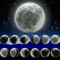 LED Moon Lamp Wall Night Light Novelty Atmosphere Mood Emergency healing with remote control indoor home for children