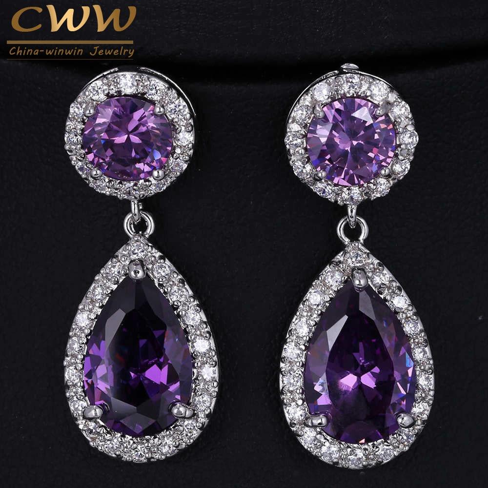 Cwwzircons Beautiful And Good Quality Big Purple Aaa