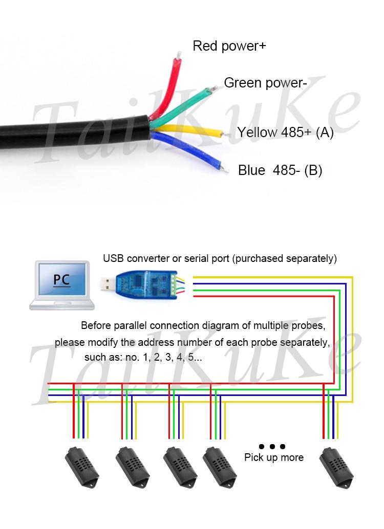 RSDS6 Температура и влажности Сенсор RS485 Промышленных Высокой Точности Температура и влажности передатчик MODBUS протокол
