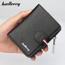 Baellerry 2018 New men wallet fashion short leather wallet for male vintage card purse with zipper coin pocket men's purse baellerry 2018 new men wallet fashion short leather wallet for male vintage card purse with zipper coin pocket men s purse
