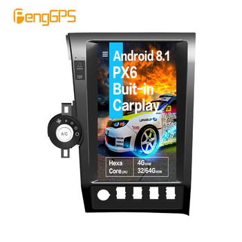 Tesla screen Android PX6 For Toyota Tundra 2007-2013 Car multimedia stereo Radio GPS Navigation voice control Built-in CARPLAY