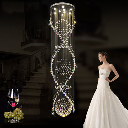 Modern Crystal Chandeliers Lights Fixture Spiral Luxury Crystal Droplight Home Indoor Lighting Foyer Hotel CLub Restaurant Lamps luxury k9 crystal chandeliers lighting fixture with different size free shipping