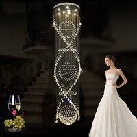 Luxury Crystal Pendant Lights Villa Hall Foyer Lamps Lobby LOFT Restaurant High Stairway Dining Room Drop