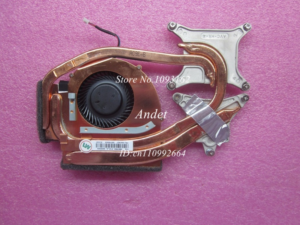 New Original Cooling Fan For Lenovo ThinkPad W530 Heatsink Cooler Radiator Cooling Fan 04W3627 04W3626 0B57854 for asus u46e heatsink cooling fan cooler