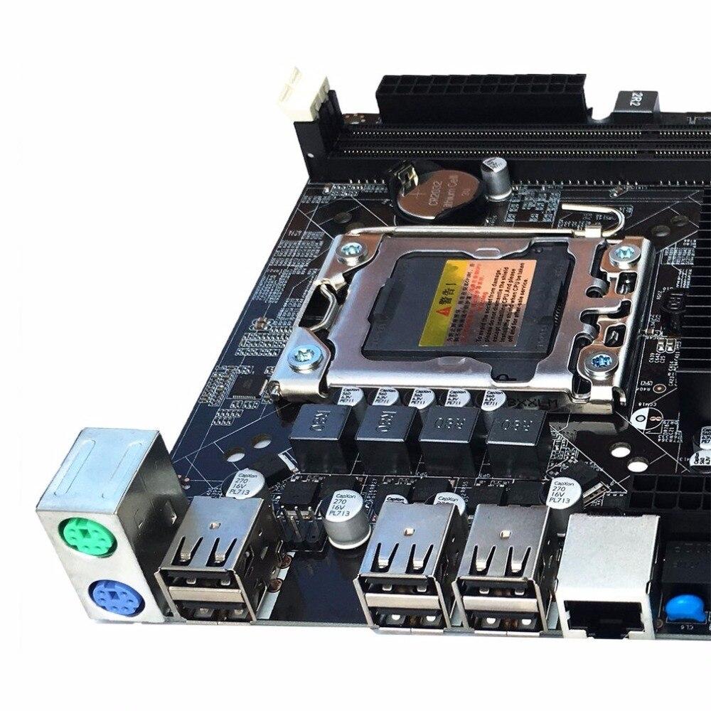 X58 Desktop Motherboard Computer Mainboard For LGA 1366 DDR3 16GB Support ECC RAM For Quad-Core Six-Core Needle 8PIN new desktop motherboard x58 for lga 1366 ddr3 16gb usb2 0 boards for quad core needle 8pin cpu motherboard