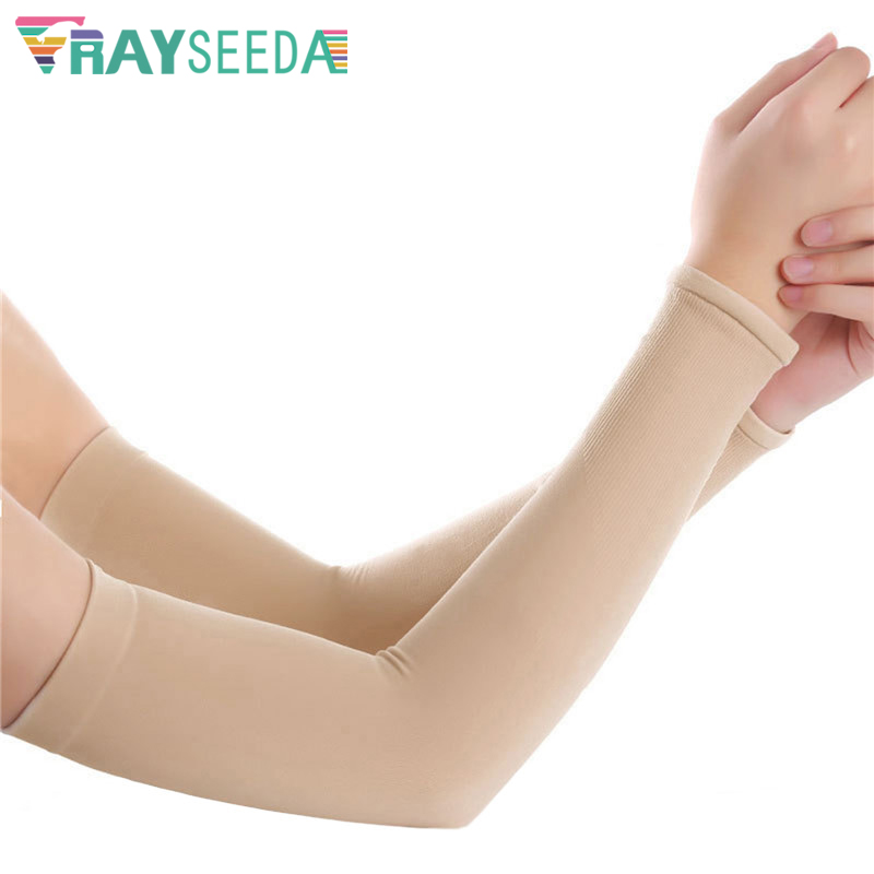1 Pair Women Summer Cooling Driving Arm Sleeves Girls Anti-UV Sun Protection Arm Covers For Ladies Running Riding Outdoor Sports