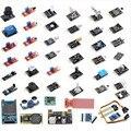 Frete Grátis 45 em 1 Starter Kit Para arduino Módulos de Sensores, melhor do que o 37in1 sensor kit 37 em 1 Kit De Sensor