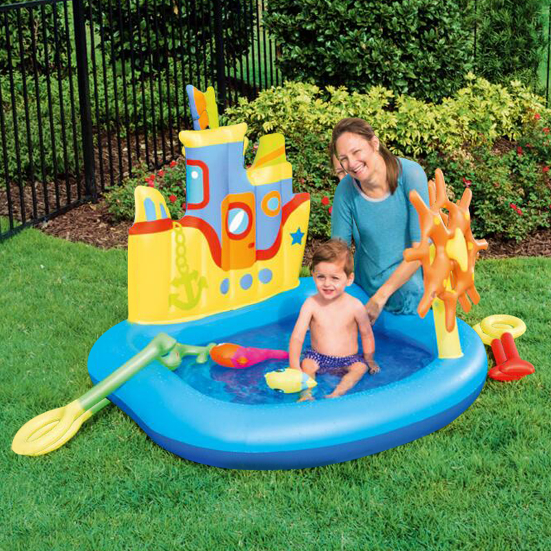 2017 new design Cool Castle swimming pool children swimming high quality children inflatable pool free shipping thicker deluxe high quality children baby swimming pool large inflatable swimming pool water playing pool c01