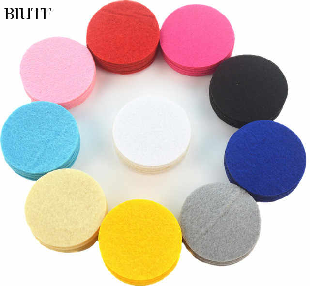 BIUTF 200 PCS 4.5CM/4CM/3.5CM Eco-friendly Round Felt Fabric Pads Accessory Patches Circle Felt Pads Fabric Flower Accessories