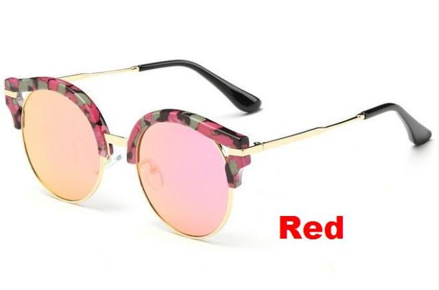 3864c2950f4 N1 Summer Fashion Round Sunglasses Korean Brand Designer Women Multi color  Points Mirror Sun Glasses Shades