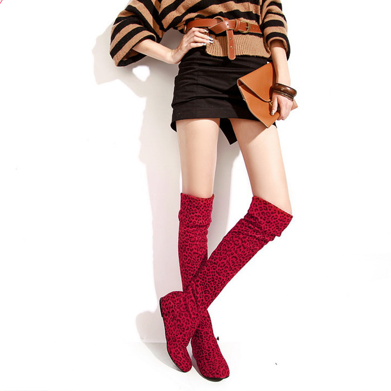 2017 Hot Quality Women font b boots b font Faux Suede Over the Knee Flat font