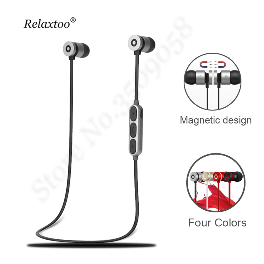 Strong Magnetic Earphone Bluetooth Headphones In ear With Mic Earpiece Stereo Wireless Earbuds Headset Sport Bloototh Head phone hena new stereo wireless bluetooth earphone ear hook headset not earbuds headphones hd call wireless earphone for phone with mic