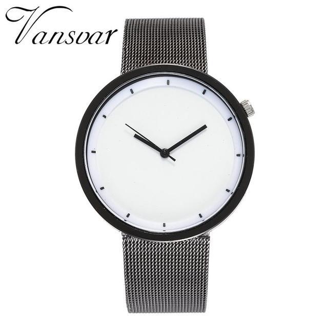 VANSVAR Watch relogio feminino Stainless Steel Strap Fashion Watches Women Luxur