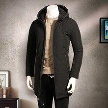 2017 atest стиль зимняя куртка мужчины утолщение средней длины с капюшоном ватные куртки верхняя одежда