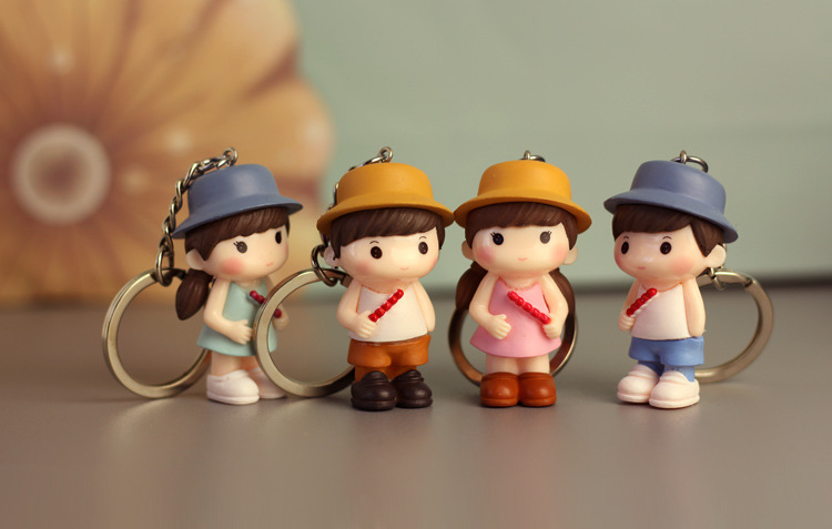 Keychain Toys Action-Figure-Model Birthday-Gifts Pvc-Collection Anime Fashion Unisex